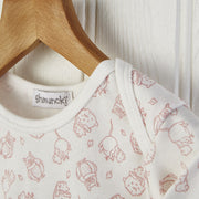 pink woodland nursery print baby long sleeved top 0-6mnths