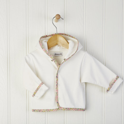 Liberty Fabric Trim Baby Coat