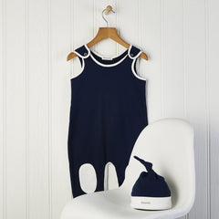 classic baby boy outfit 6-12 months in navy blue and cream