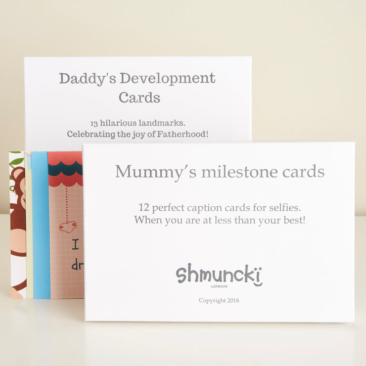 new baby gift funny milestone cards for a new mum and dad