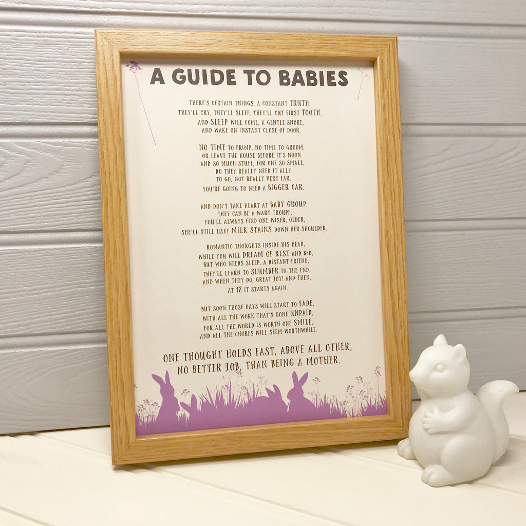 Funny poem about babies for a new mummy