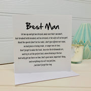 Best man poem card