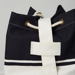 blue baby bag with strap