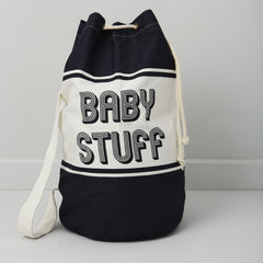 baby changing bag in blue