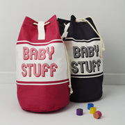 baby changing bag by shmuncki available in pink or blue