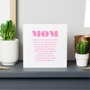 mom birthday card