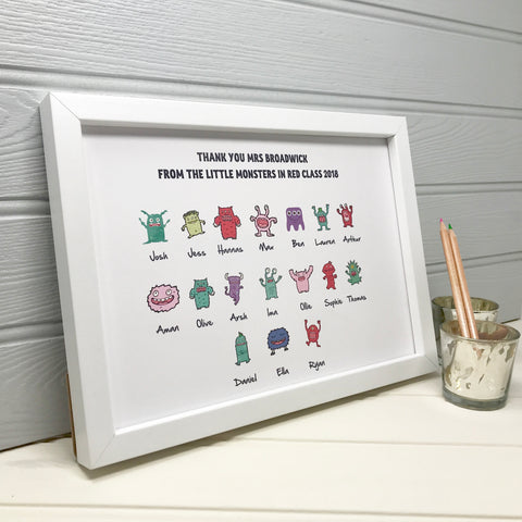 Personalised Class Gift for Teacher Print
