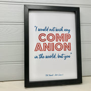 framed love print for him