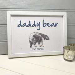 Birthday gift Print for daddy from the baby