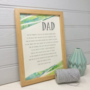 personalised print for father