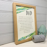 personalised father poem print