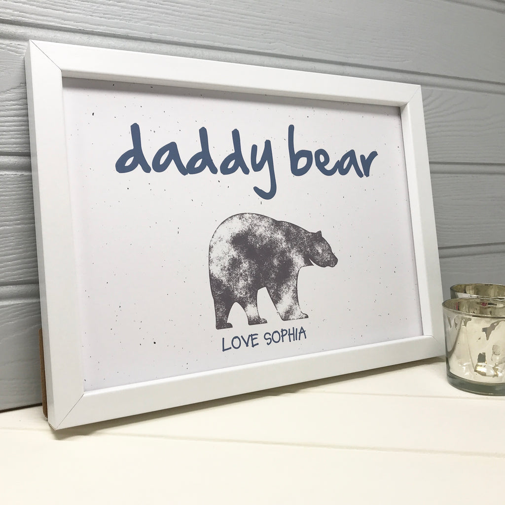 personalised daddy bear print for new daddy