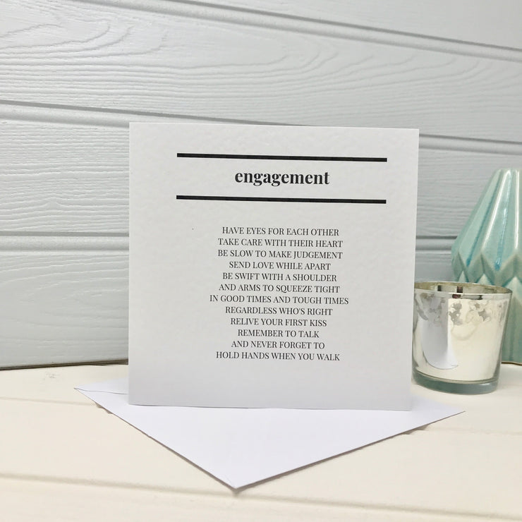 engagement poem card