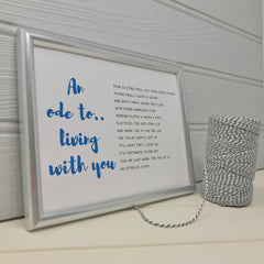 an ode to living with you poem gift for husband