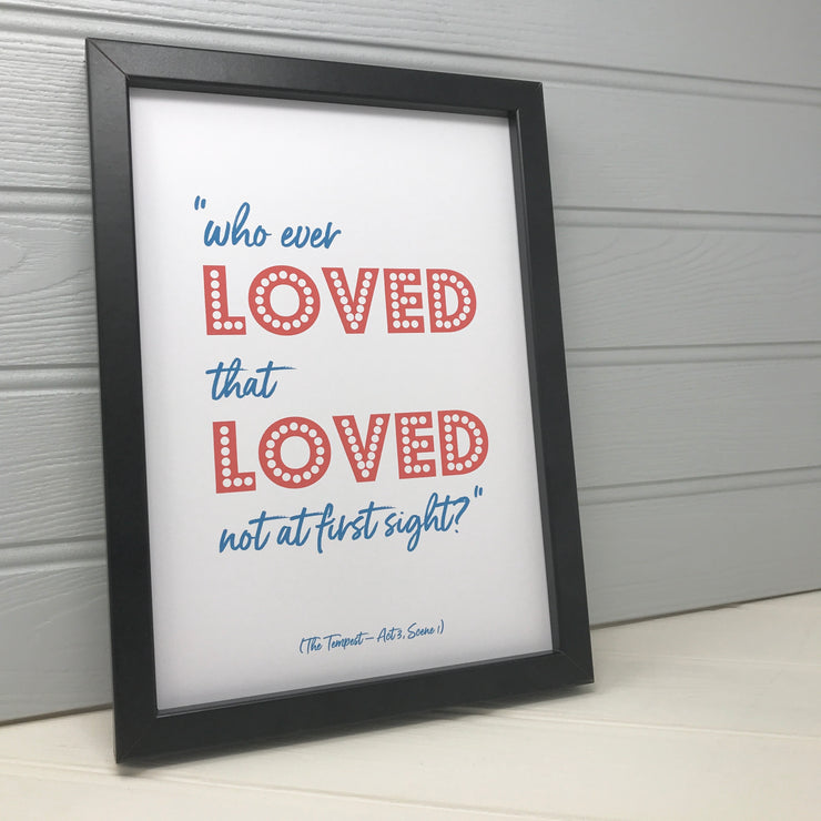 Framed valentines day gift for her