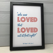 Love quote print for valentines day