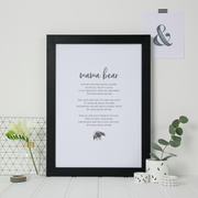 mama bear poem print for mummy