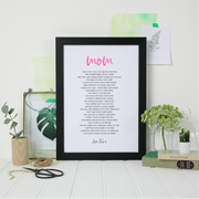 poem gift for mom