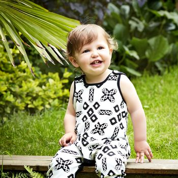 black and white baby dungarees 0-6 months