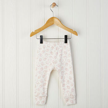 woodland print baby leggings in pink 0-6 months