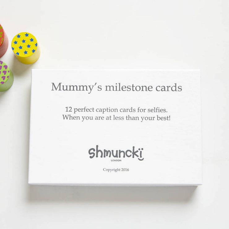 funny milestones cards for a new mummy
