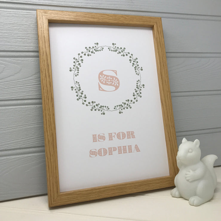 Personalised Child's Name Print