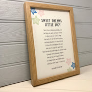 First birthday poem print
