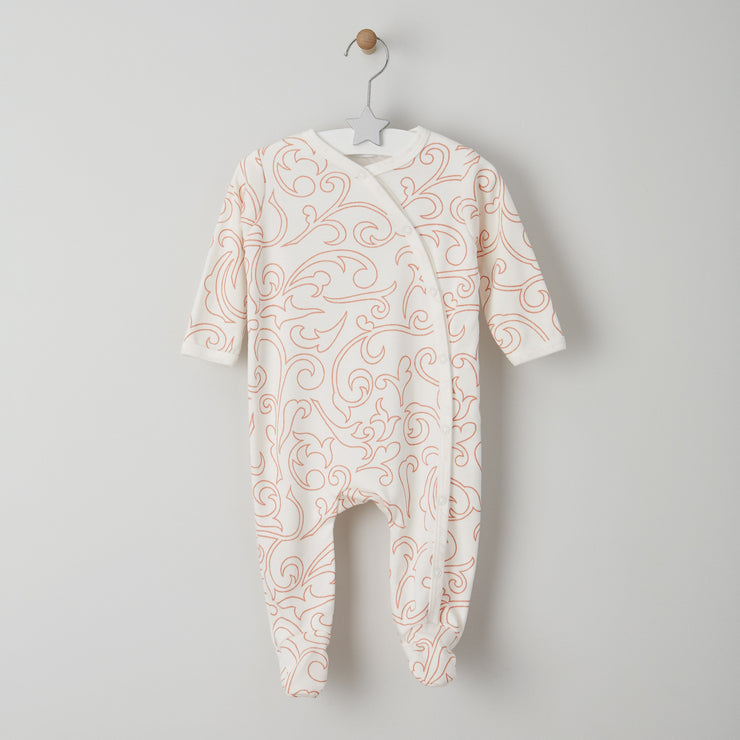 long sleeved print baby grow 0-6 months