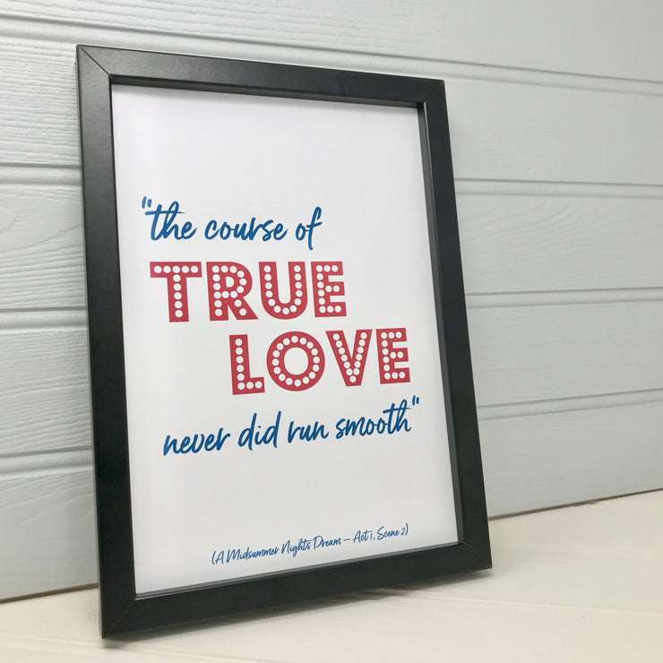 framed love print for her
