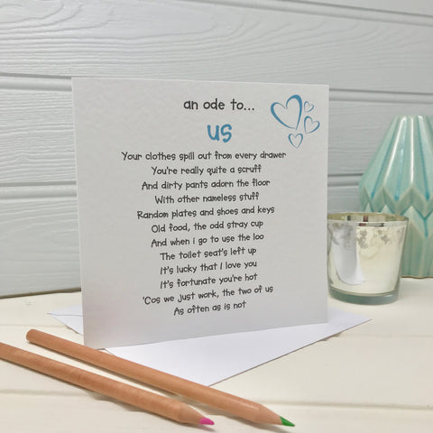 Us Poem Card (free postage)