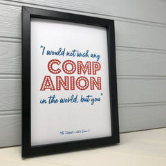 framed love quote print gift