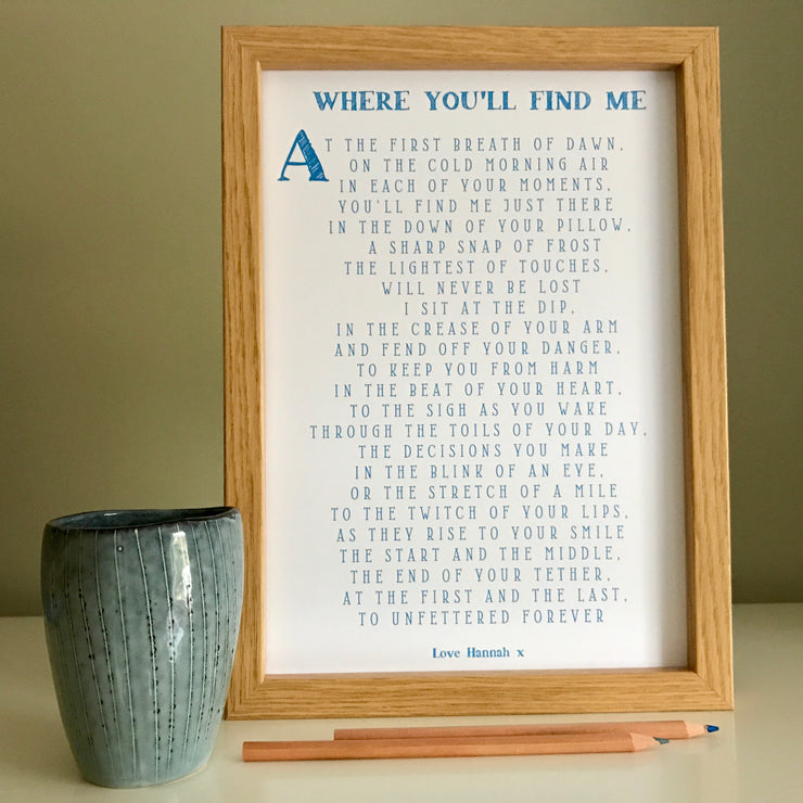 valentines gift poem for him