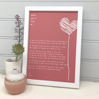 love poem print for valentines day or an anniversary gift