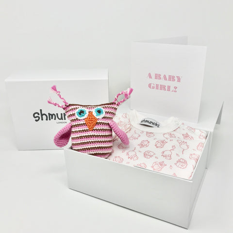 Baby Girl Owl Gift Set (Woodland)
