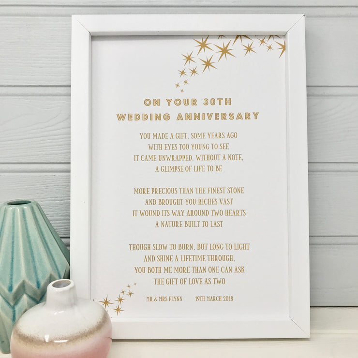 30th wedding anniversary poem