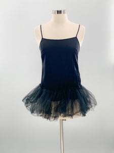 Alice and Olivia Silk Top with Tulle Trim, Size Small