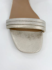 Donald J Pliner Hira Metallic Leather Low-Heel Sandal, Size 8M
