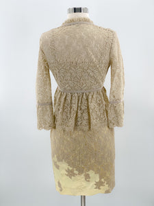 R.E.D. Valentino Lace Dress with Lace Cardigan, Size 4