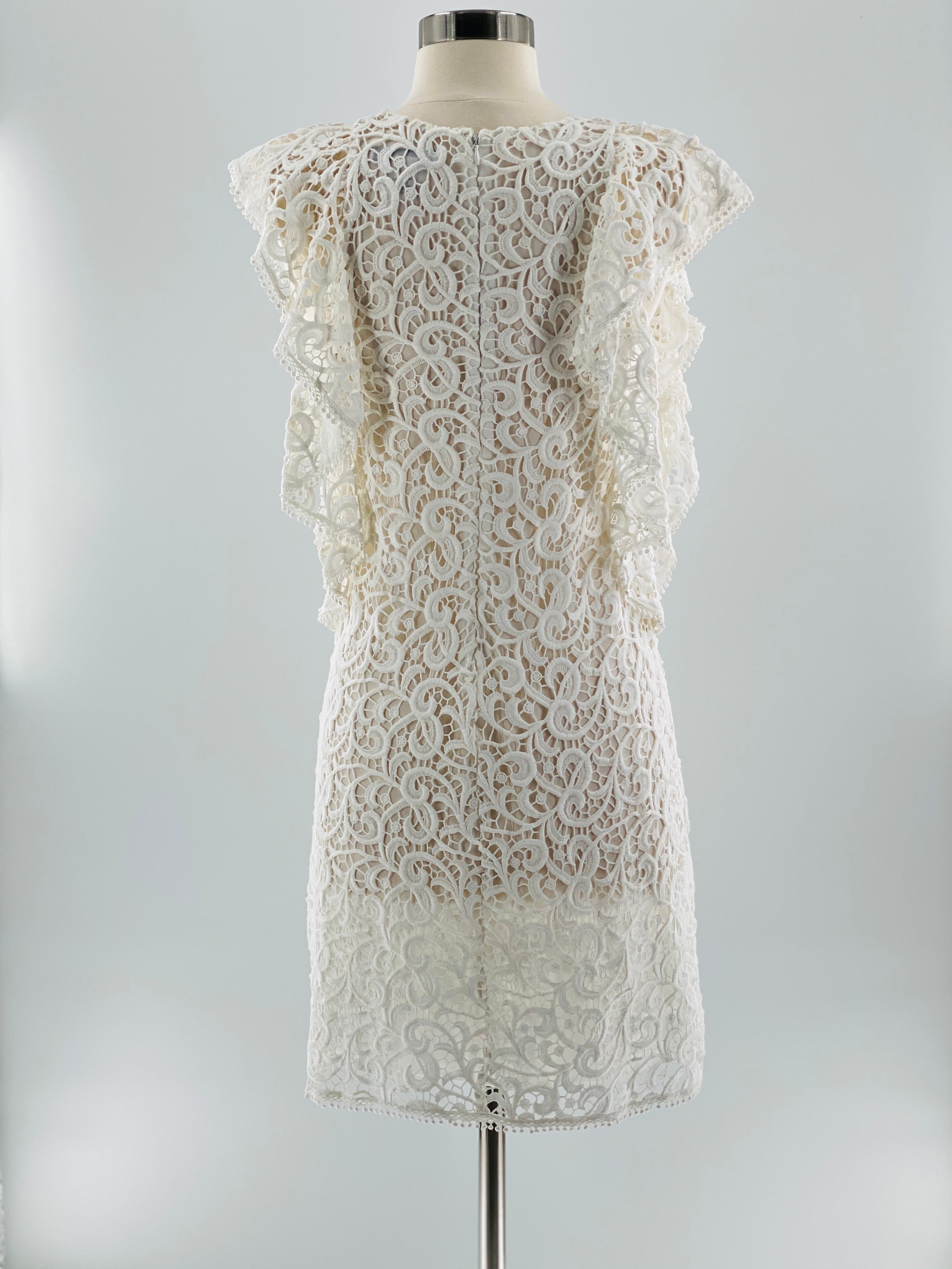 Hiche Crochet Lace Flounce Dress, Size Small