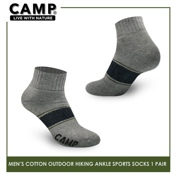 Camp CMS1104 Men's Cotton Blend Outdoor Hiking Ankle Thick Sports socks 1 pair