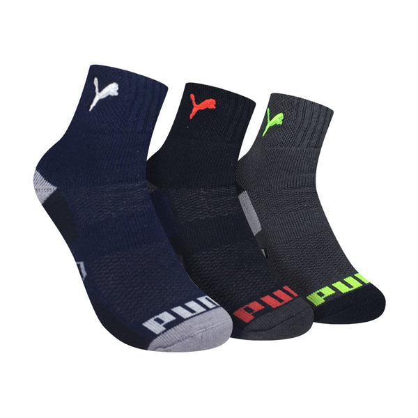 Puma PBSEG2 Children's Ankle Sports Socks 3-in-1 Pack