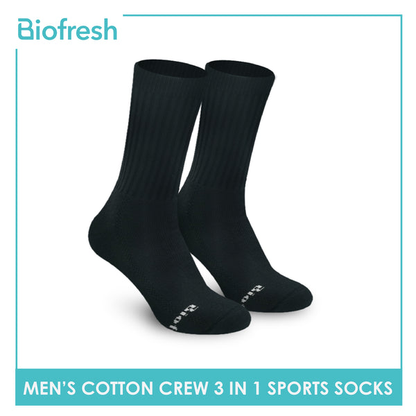 Biofresh RMSKG20 Men's Thick Cotton Crew Sports Socks 3 pairs in a pack