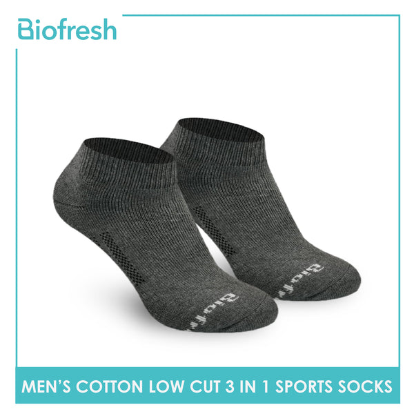 Biofresh RMSKG19 Men's Thick Cotton Low Cut Sports Socks 3 pairs in a pack