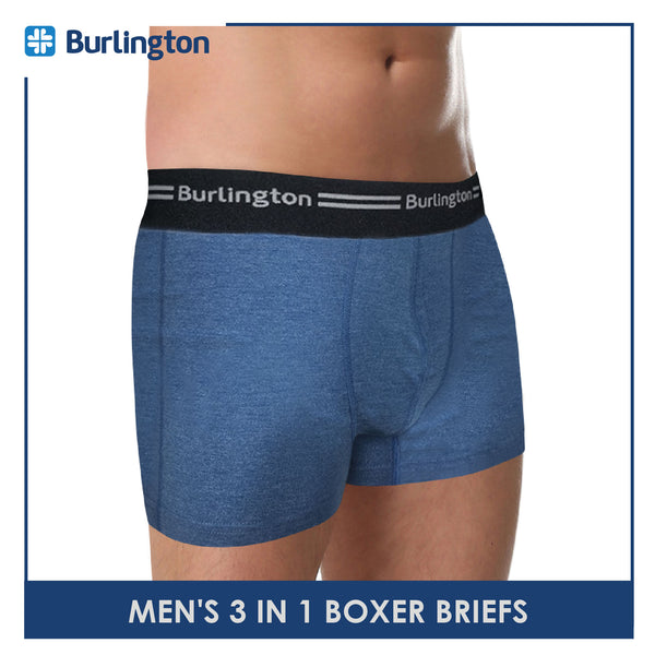 Burlington GTMBBG11 Men's Boxer Brief 3 pieces in a pack