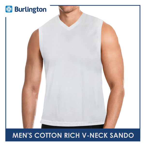 Burlington GTMSV2 Men's Cotton Rich V-Neck Sando 1pc
