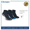 Burlington BMCKG24 Men's Cotton Ankle Casual Socks 3 pairs in a pack