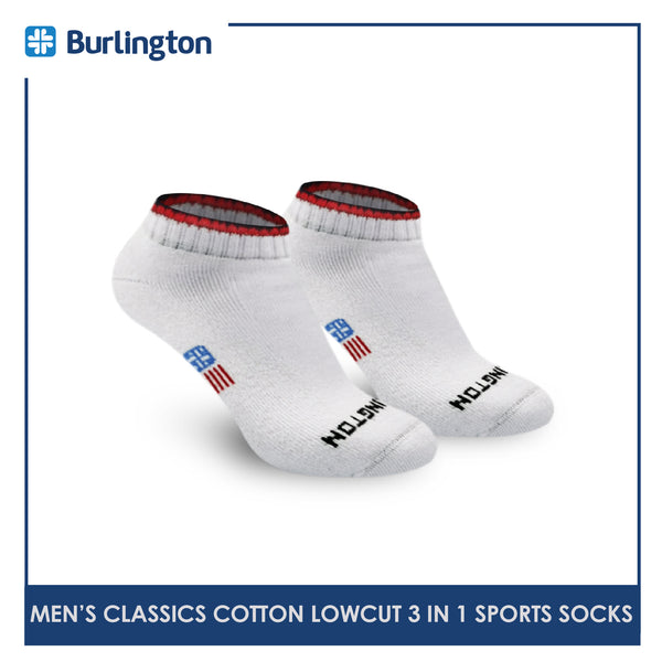 Burlington Classics BMSG0401 Men's Thick Cotton Low Cut Sports Socks 3 pairs in a pack