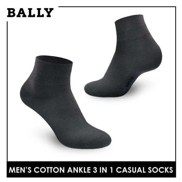Bally YMCKG142-1 Men's Cotton Ankle Casual Premium Socks 3 pairs in a pack