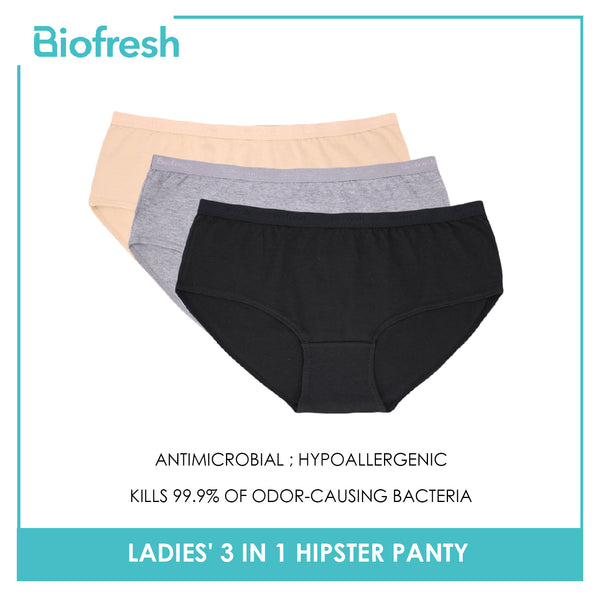 Biofresh ULPHG0401 Ladies' Antimicrobial Hipster Panty 3 pieces in a pack