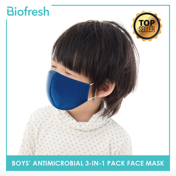 Biofresh RBMASK Boy Children's Washable Anti-Microbial Face Masks 3-in-1 pack